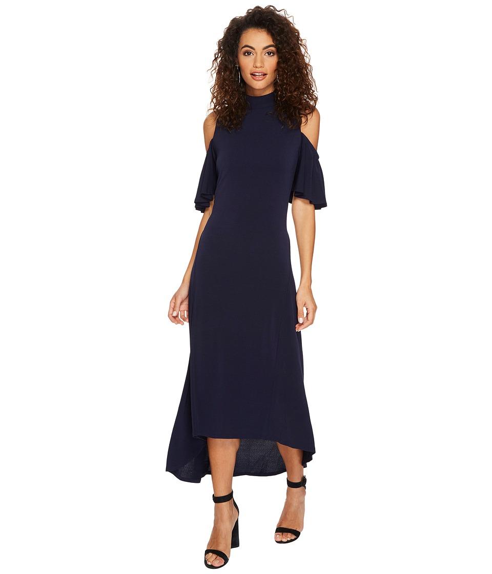 kensie - Texture Crepe Cold Shoulder Dress KSNK9892
