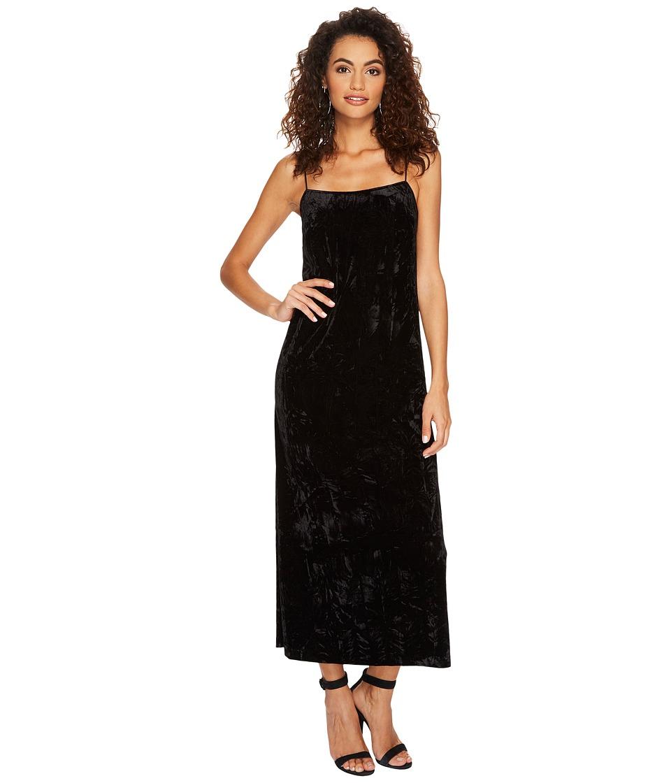 kensie Crushed Velvet Maxi Dress KSNU7059 (Black) Women