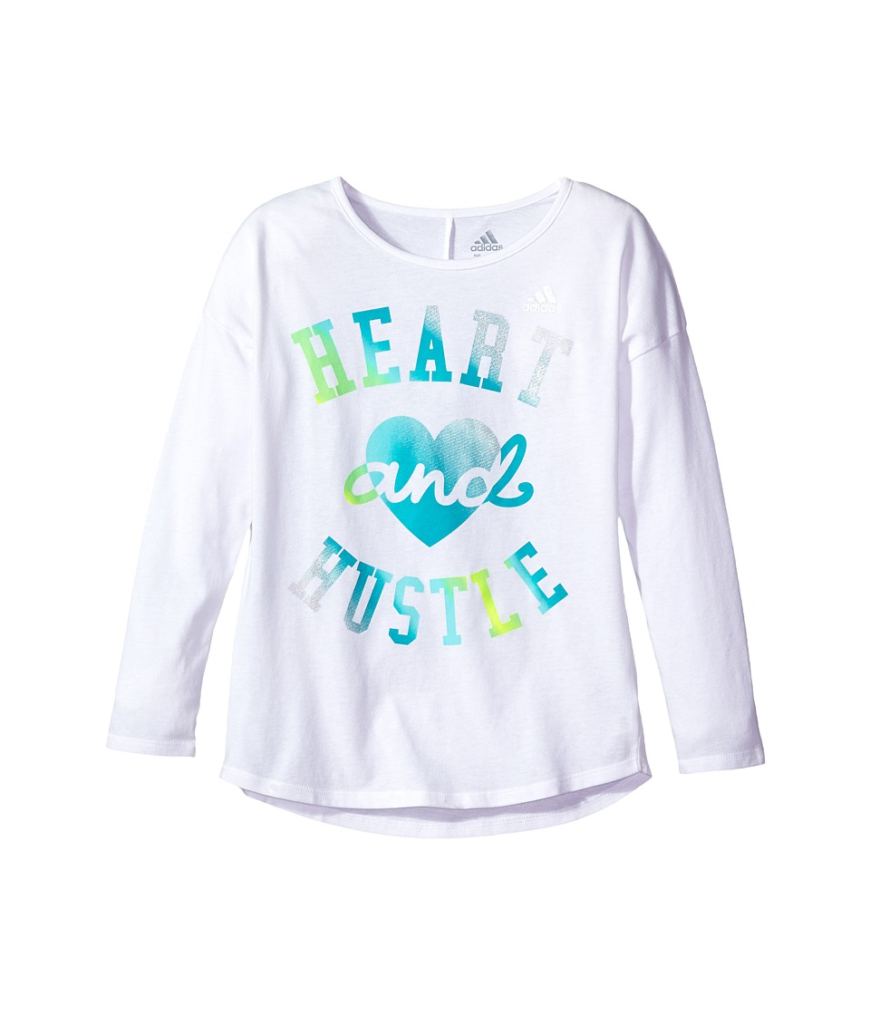 adidas Kids - Long Sleeve Heart and Hustle Tee