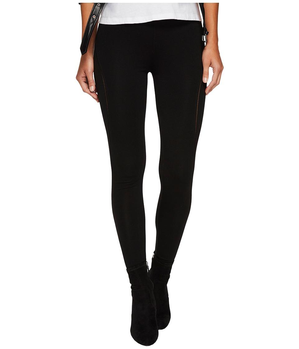 Image of kensie - Patterned Ponte Pants KS0K1166 (Black) Women's Casual Pants
