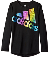 adidas Kids - Long Sleeve Just Shine Tee (Toddler/Little Kids)