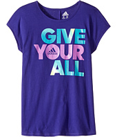 adidas Kids - Short Sleeve Heart and Hustle Tee (Big Kids)