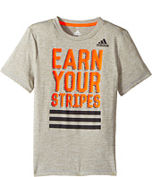 adidas Kids - Earn Your Stripes Tee (Big Kids)