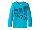 adidas Kids - Future Stripe Logo Tee (Toddler/Little Kids)