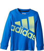 adidas Kids - Future Stripe Logo Tee (Toddler/Little Kids)