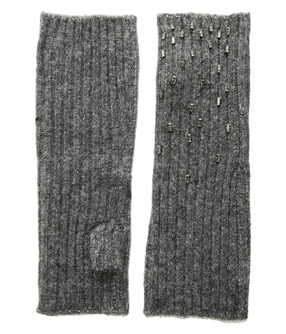 LAUREN Ralph Lauren Baguette Rhinestone Armwarmer (Black) Dress Gloves