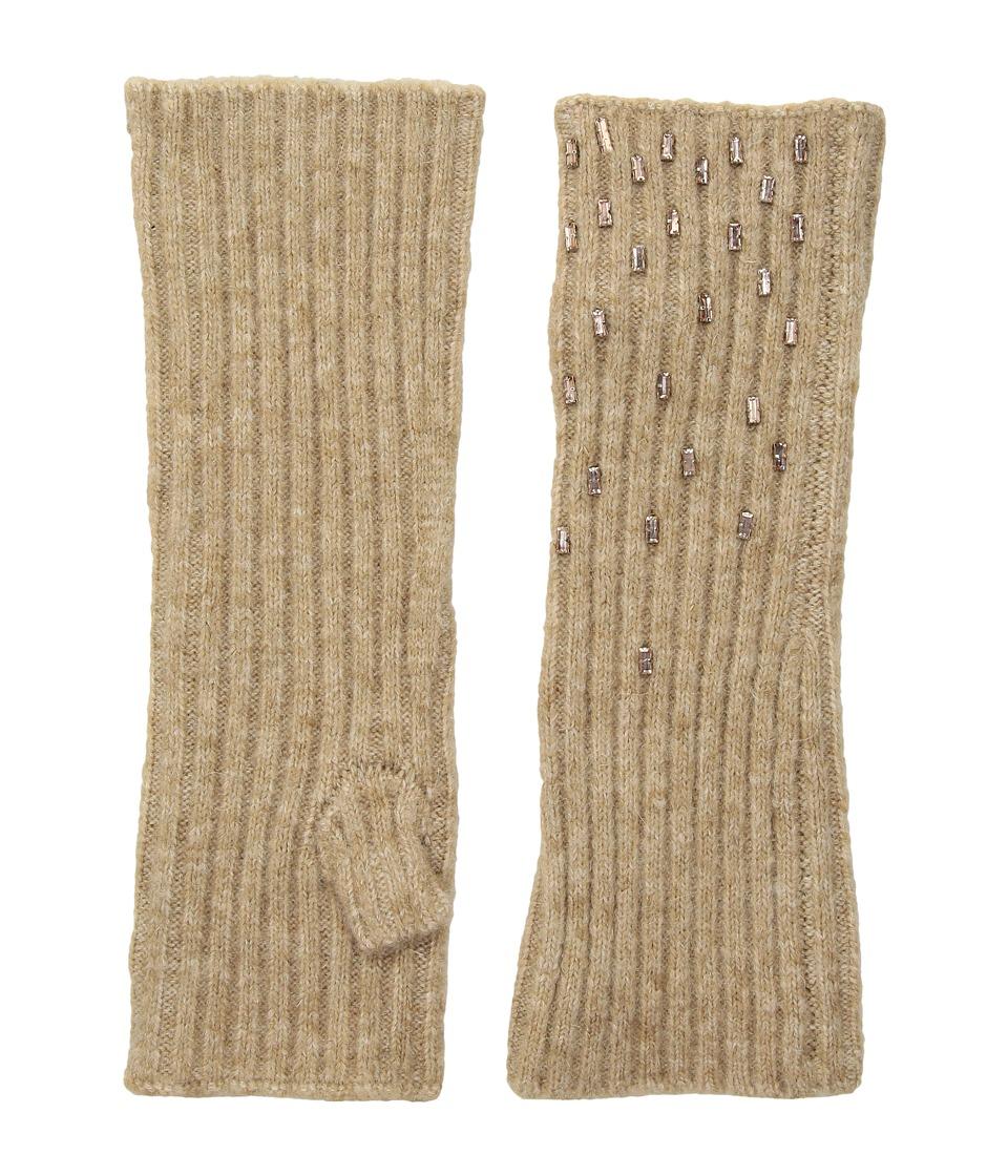 LAUREN Ralph Lauren Baguette Rhinestone Armwarmer (Camel) Dress Gloves