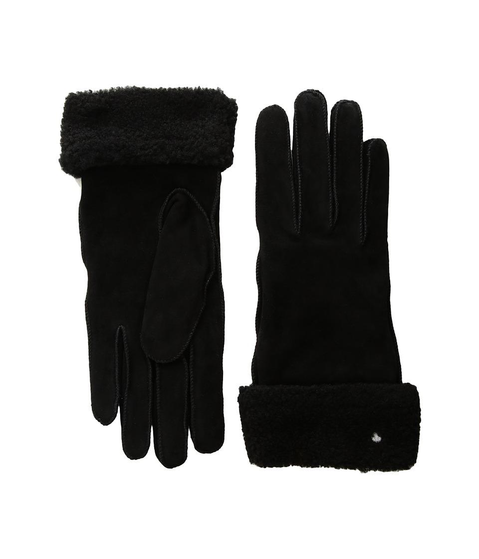 LAUREN Ralph Lauren Shearling Cuff Glove with Thinsulate (Black) Dress Gloves