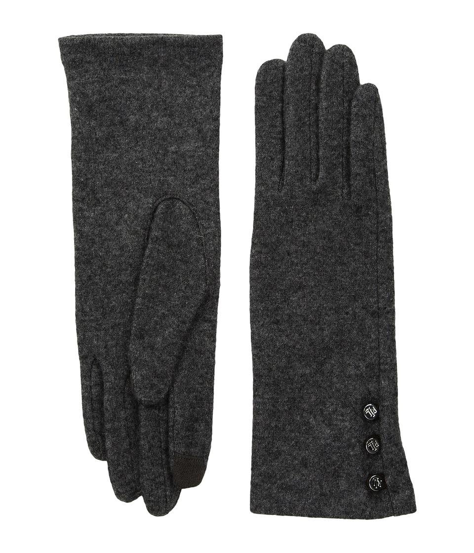 LAUREN Ralph Lauren Three-Button Touch Glove (Grey Heather) Dress Gloves