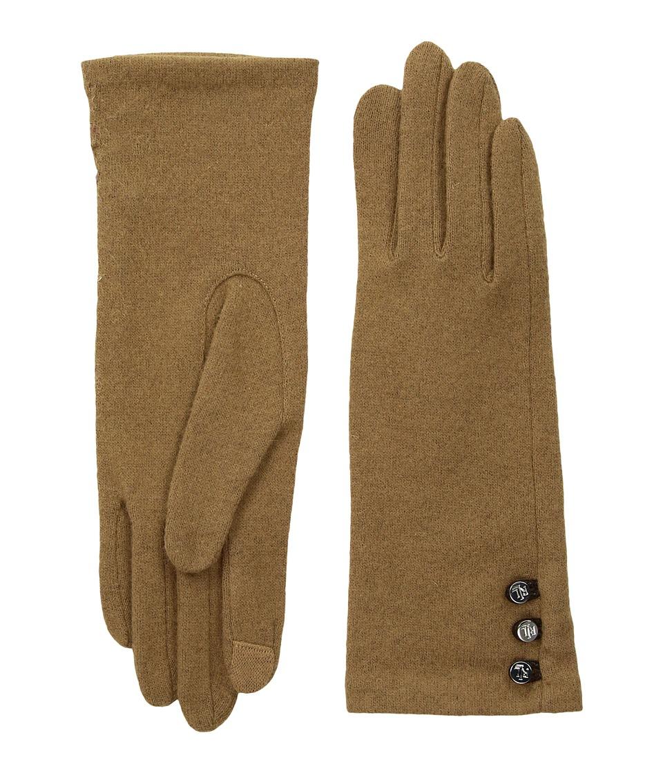 LAUREN Ralph Lauren Three-Button Touch Glove (Classic Camel) Dress Gloves