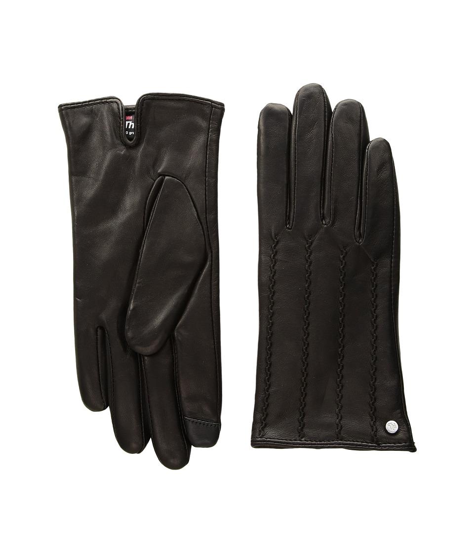 LAUREN Ralph Lauren Modern Hand Crafted Points Touch Glove (Black) Dress Gloves