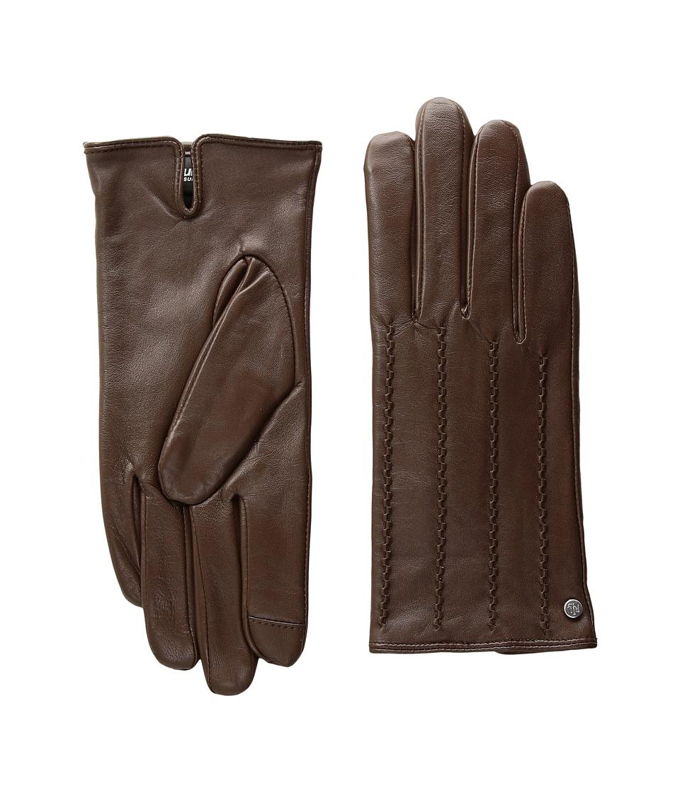 LAUREN Ralph Lauren Modern Hand Crafted Points Touch Glove (Field Brown) Dress Gloves