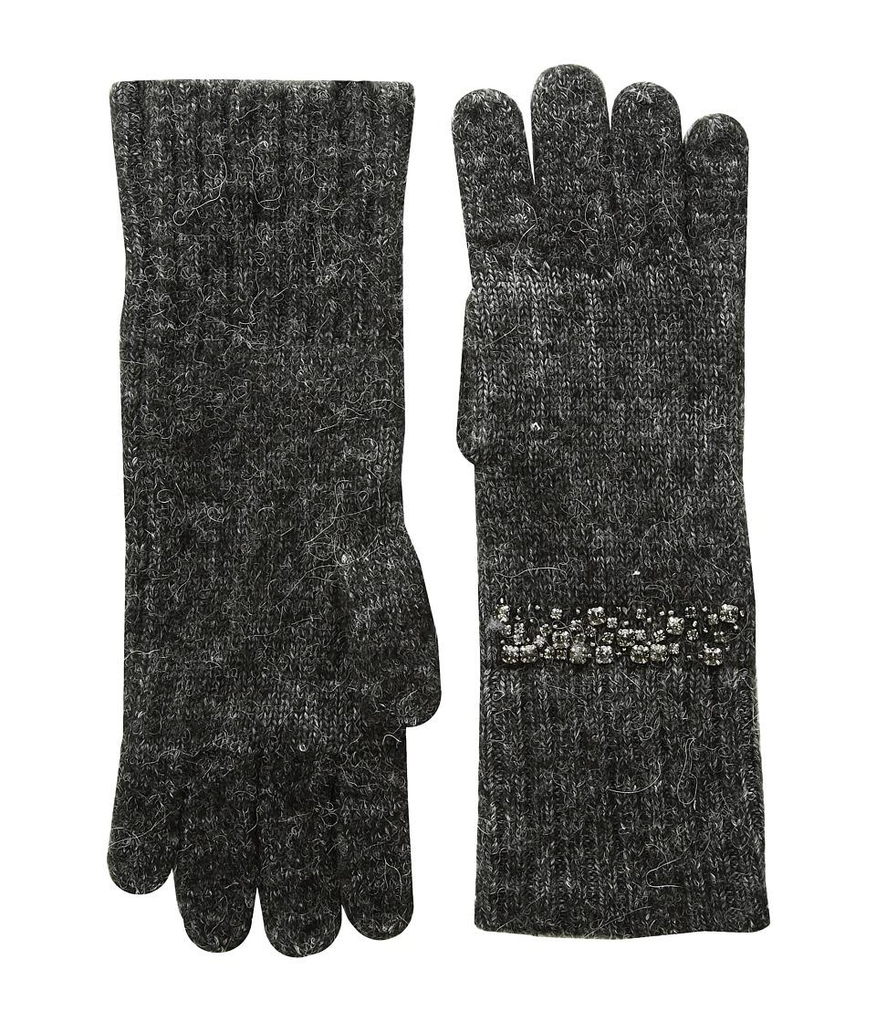LAUREN Ralph Lauren Modern Jewel Glove (Dark Grey Heather) Dress Gloves