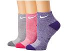 Nike Performance Cushioned Mesh Quarter Training Socks 3-Pair Pack