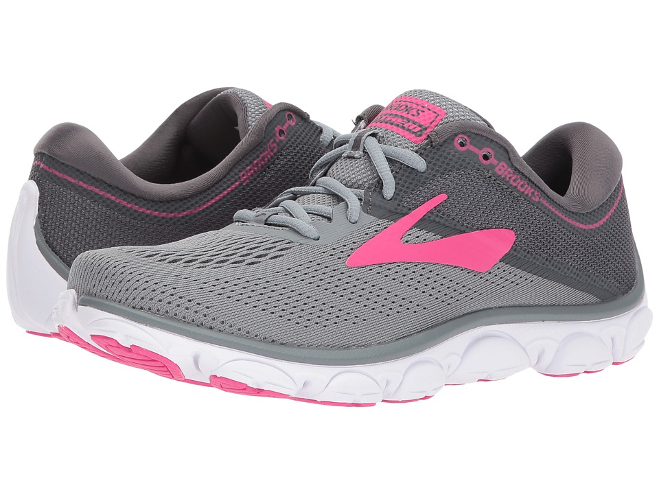 Brooks Anthem (Grey/Ebony/Pink) Women's Running Shoes