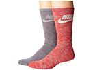 Nike Sportswear Blue Label Advance Graphic 2-Pair Pack Crew Socks