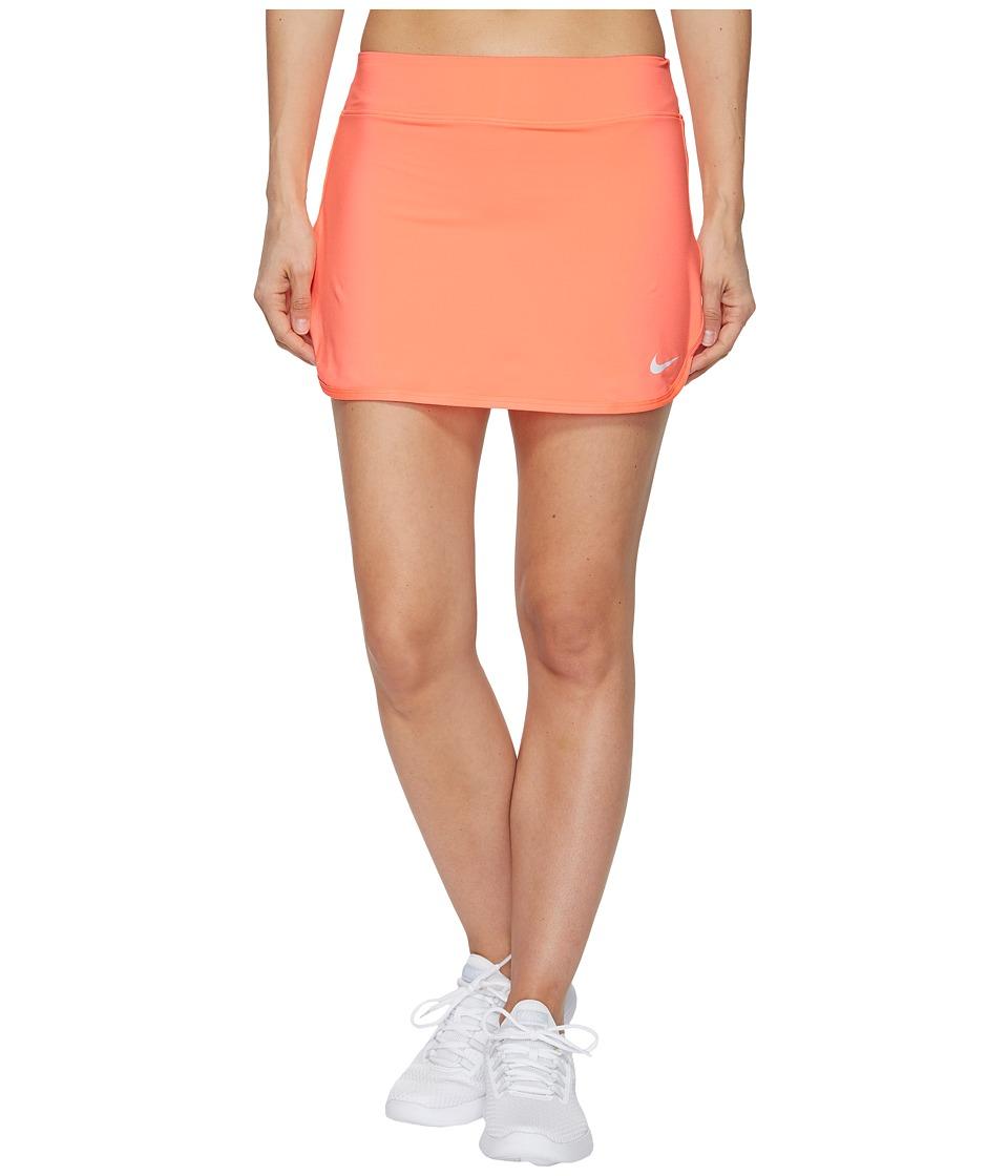 Nike Court Pure Tennis Skirt (Lava Glow/White) Women