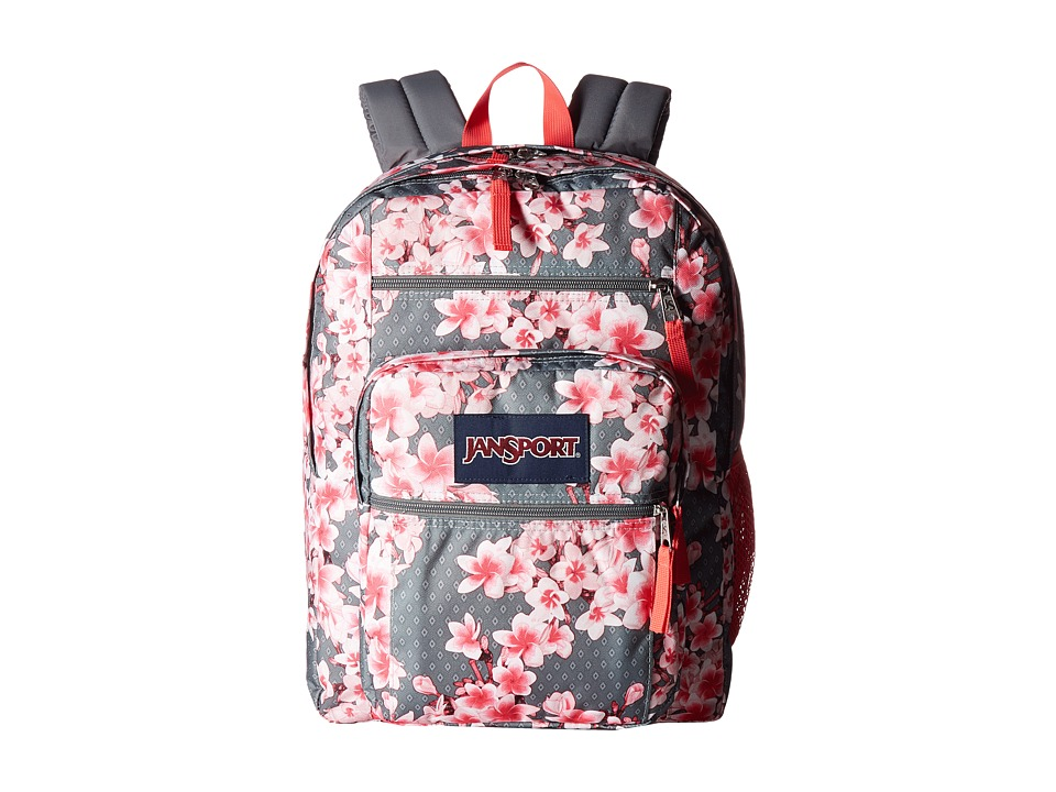 JANSPORT Big Student (Diamond Plumeria Pink) Backpack Bags