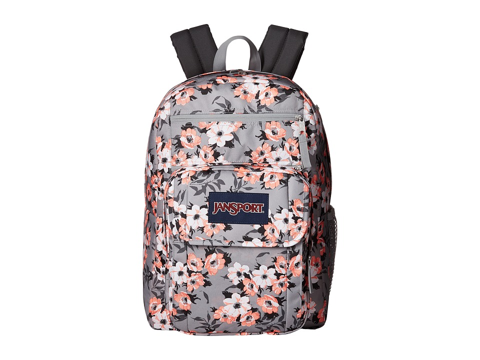JanSport - Digital Student (Coral Sparkle Pretty Posey) Backpack Bags