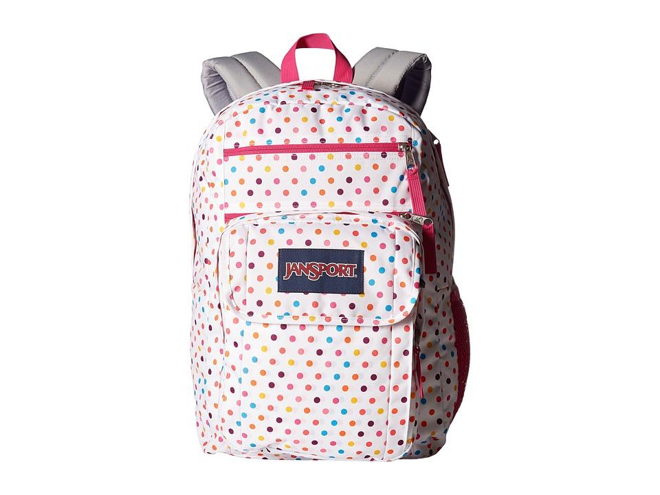 JanSport Digital Student (Spot-O-Rama White) Backpack Bags