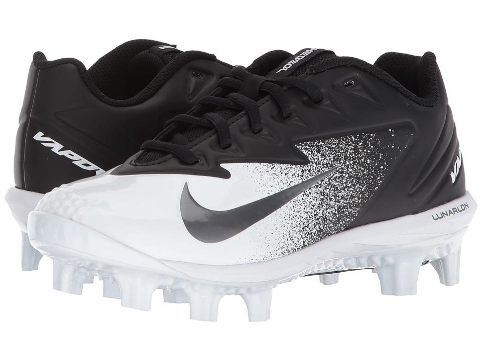 Nike Kids - Vapor Ultrafly Pro MCS BG Baseball (Big Kid) (Black/Metallic Silver/White) Kids Shoes