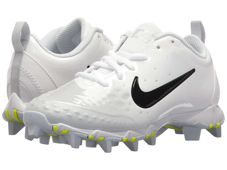 Nike Kids Hyperdiamond 2 Keystone GG Baseball (Toddler/Little Kid/Big Kid) (White/Black/Pure Platinum/Pure Platinum) Kids Shoes