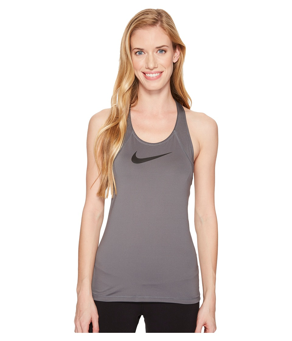 Nike Pro Mesh Training Tank (Dark Grey/Black) Women