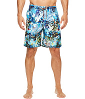 BUGATCHI - Tropical Palm and Fish Swim Trunks