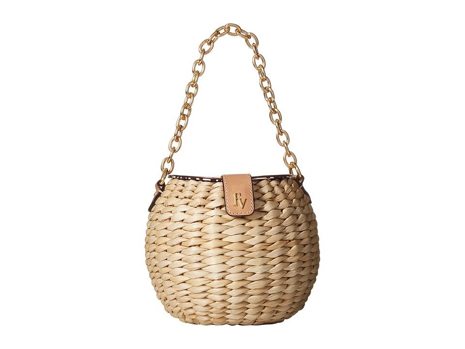 Frances Valentine - Honey Pot Woven Bucket Bag (Natural/Natural) Handbags