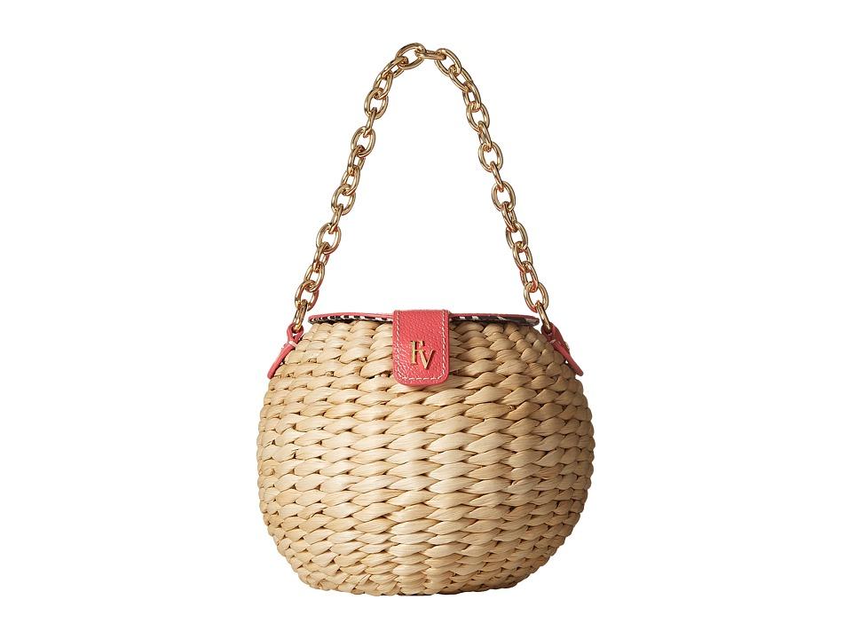 Frances Valentine - Honey Pot Woven Bucket Bag (Natural/P...