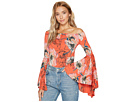 Free People Printed Birds Of Paradise Top