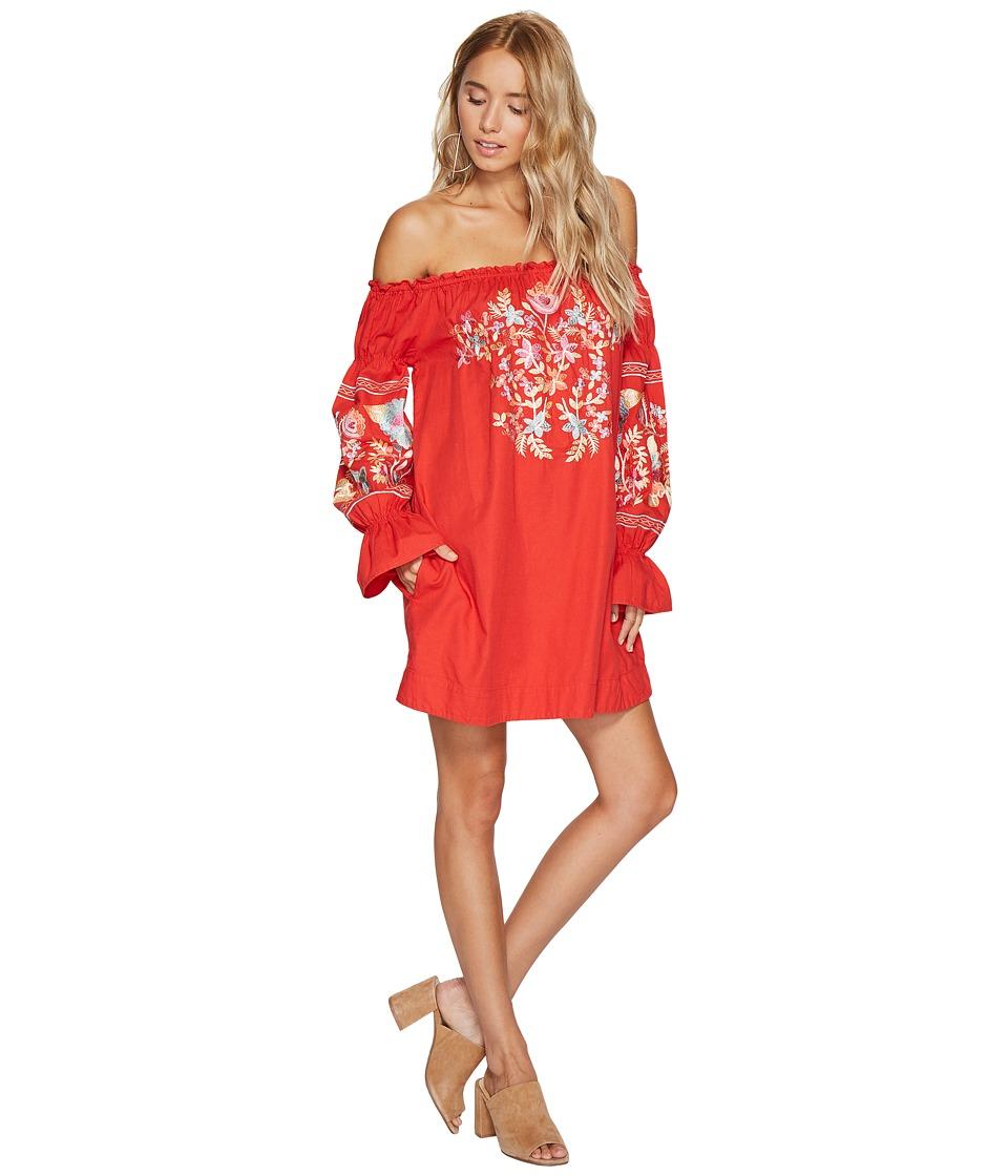 Free People Fleur Du Jour Mini Dress (Red) Women