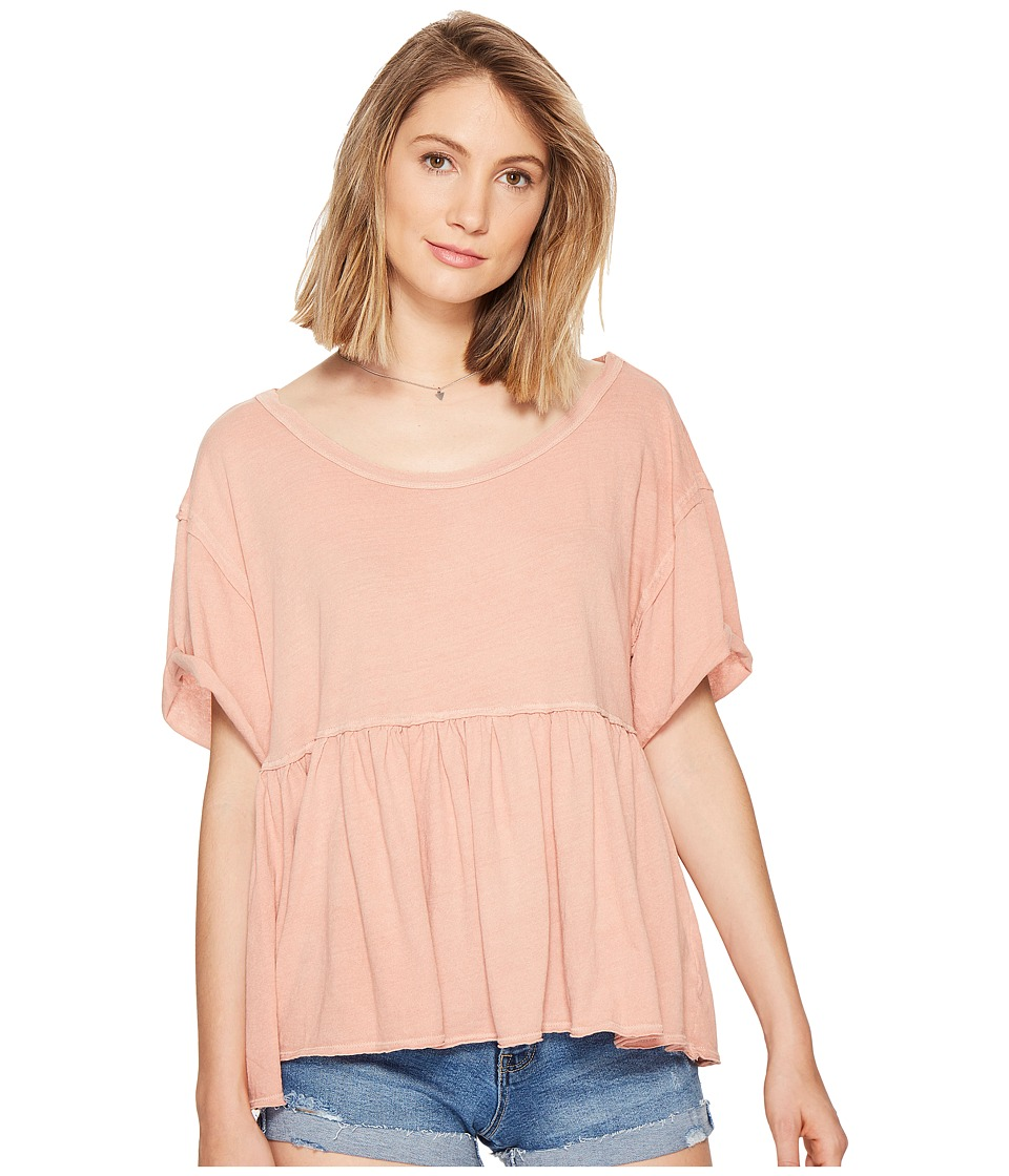 Free People Odyssey Tee (Mauve) Women