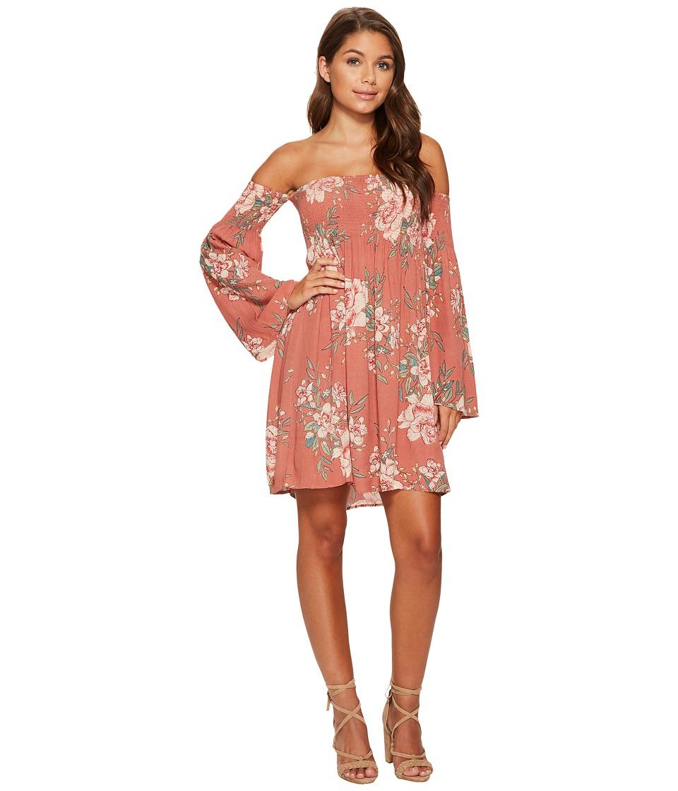 Billabong Night Fox Dress (Ash Rose) Women