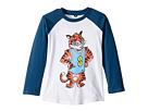 Stella McCartney Kids - Max Stella Tiger Mascot Raglan Tee (Toddler/Little Kids/Big Kids)