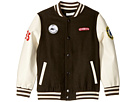 Stella McCartney Kids Donald Wool Varsity Jacket with Patches (Toddler/Little Kids/Big Kids)