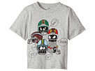 Stella McCartney Kids Arrow Short Sleeve Helmet Printed Tee with Quote Bubbles (Toddler/Little Kids/Big Kids)