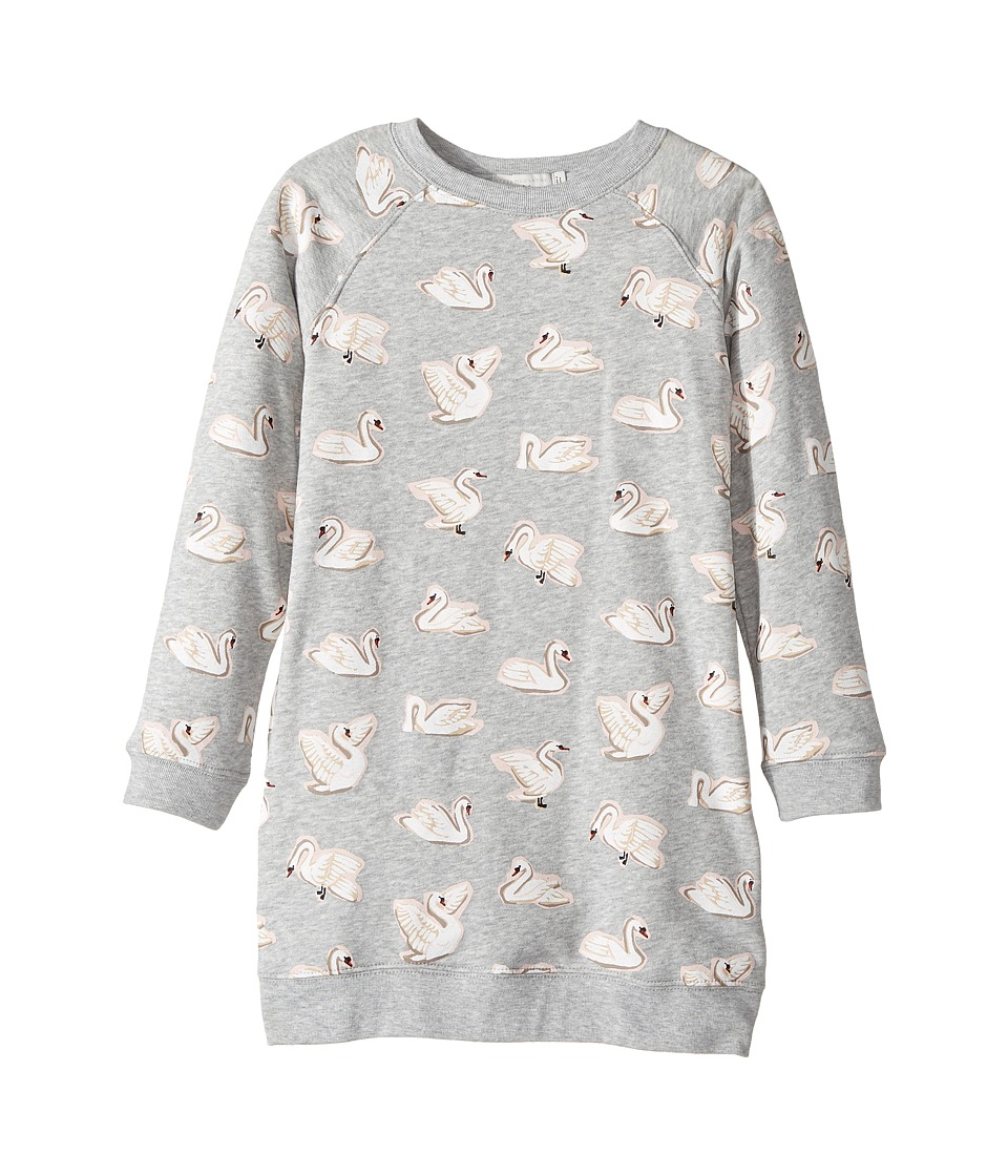 Stella McCartney Kids - Leona All Over Swan Printed Fleece Dress
