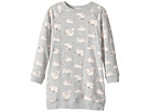 Stella McCartney Kids - Leona All Over Swan Printed Fleece Dress (Toddler/Little Kids/Big Kids)