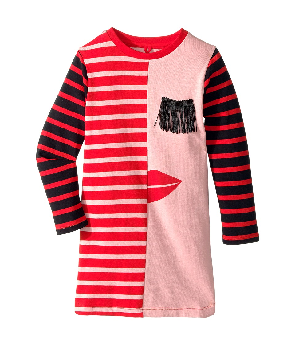 Stella McCartney Kids - Kora Striped Dress w/ Fringe Eyelash Detail