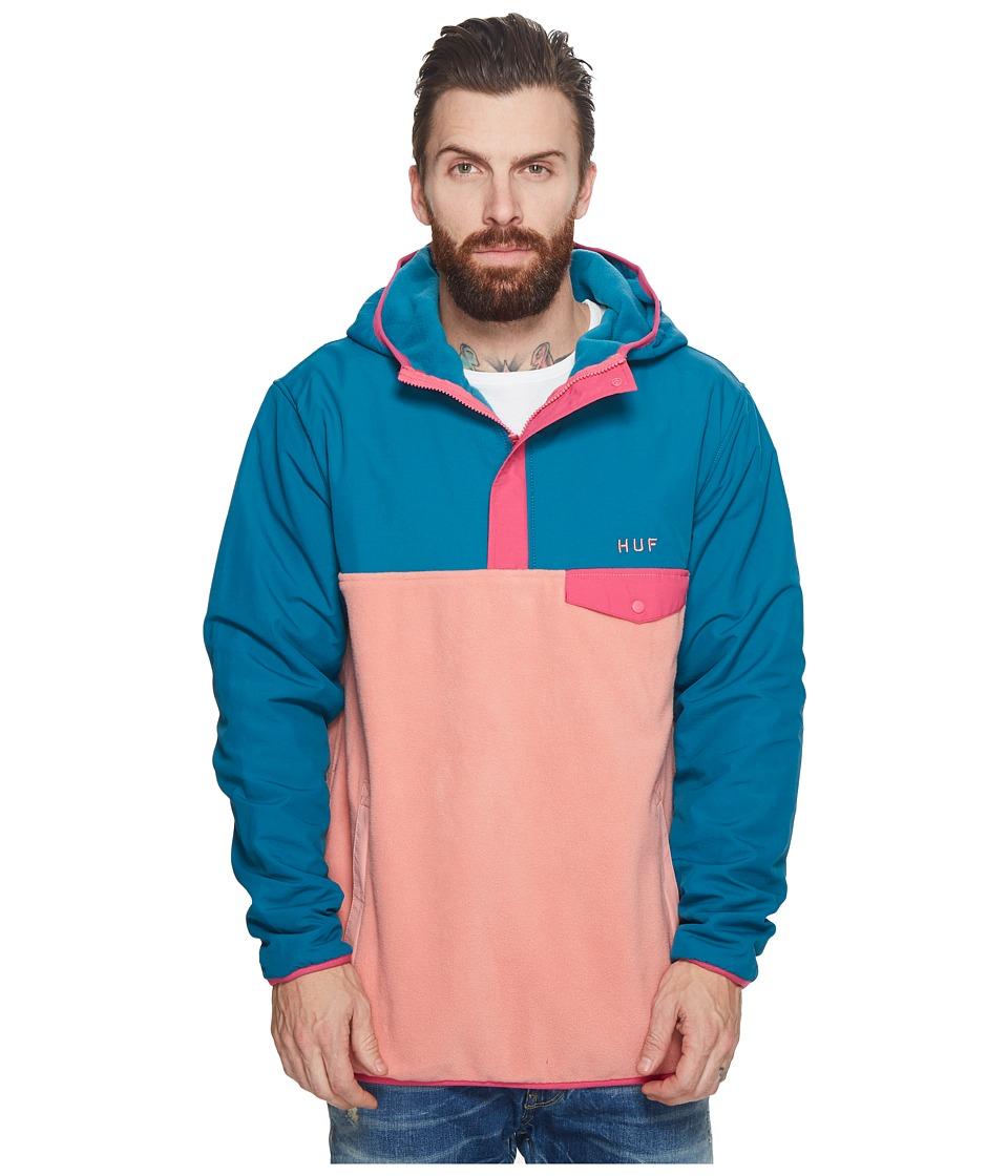 Huf Muir Hooded Pullover Jacket (Dark Teal) Men's Coat