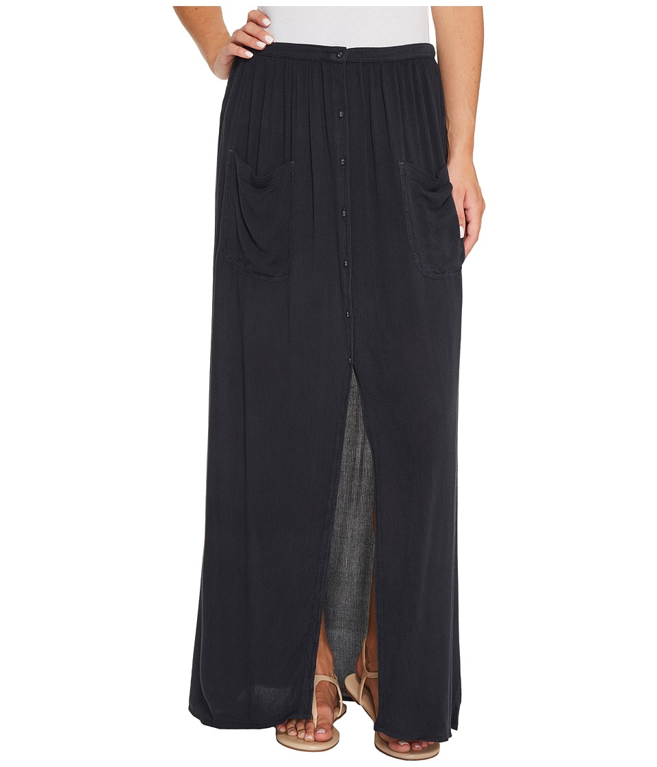 Billabong Honey Maxi Solid Skirt (Off-Black) Women