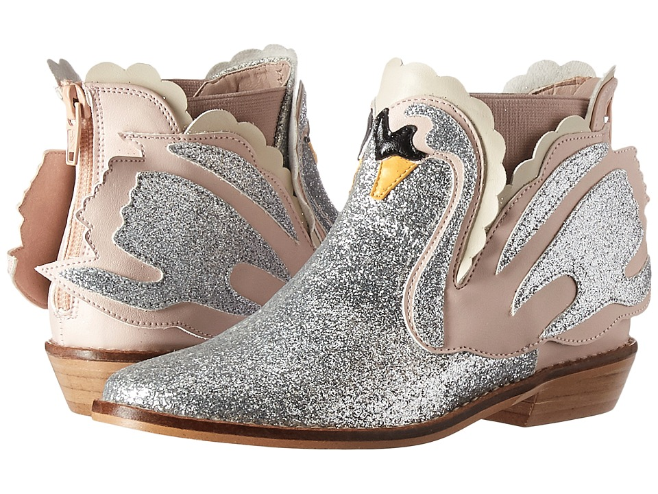 Stella McCartney Kids - Lilly Glittered Swan Ankle Boots ...