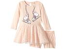 Stella McCartney Kids Primrose Skate Print Dress w/ Tulle Skirt (Infant)