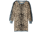 Rita Zebra Striped Knit Dress w/ Fringed Sleeves (Little Kids/Big Kids)