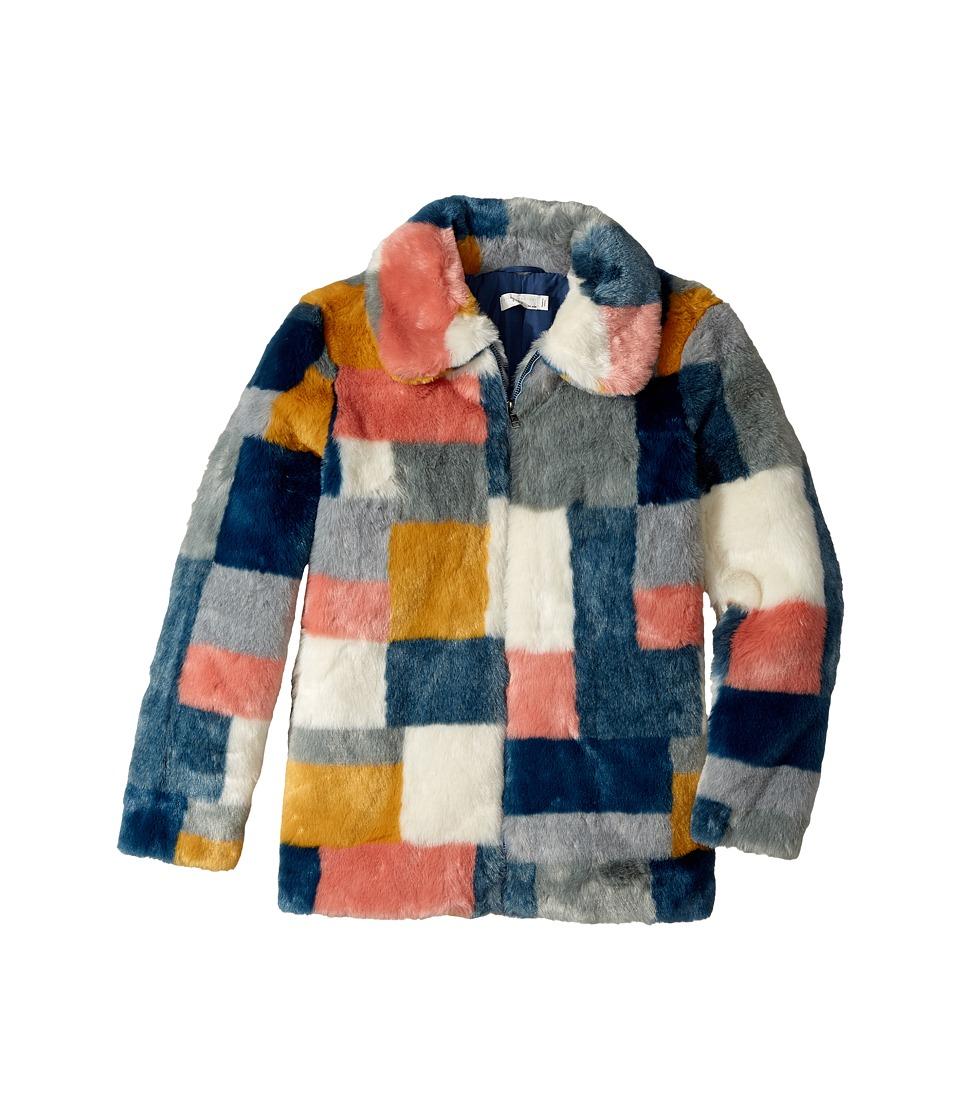 Stella McCartney Kids - Abbie Color Block Faux Fur Jacket...