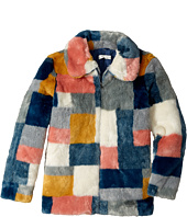 Stella McCartney Kids - Abbie Color Block Faux Fur Jacket (Little Kids/Big Kids)