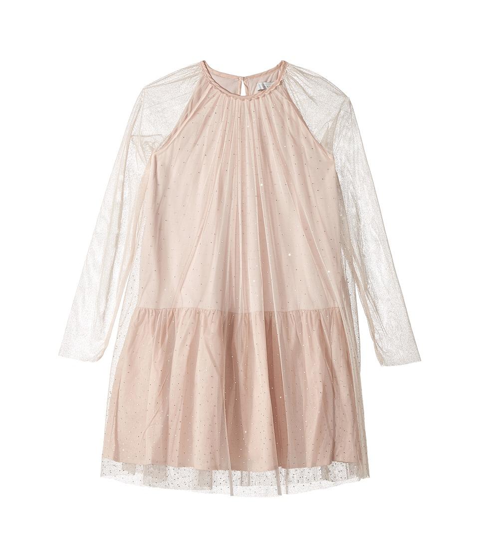 Stella McCartney Kids - Misty Rhinestone Embellished Tulle Dress (Toddler/Little Kids/Big Kids) (Pink) Girls Dress