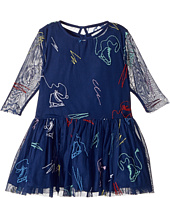 Stella McCartney Kids - Luna Tulle Dress w/ Ice Skate Embroidery (Toddler/Little Kids/Big Kids)