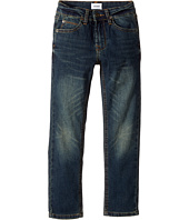 Hudson Kids - Jagger Fit Slim Straight Fit French Terry in Medium Indigo (Toddler/Little Kids/Big Kids)